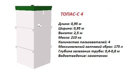 Септик ТОПАС-С 4