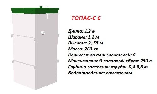 Септик ТОПАС-С 6