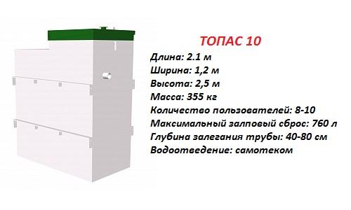 Септик ТОПАС 10